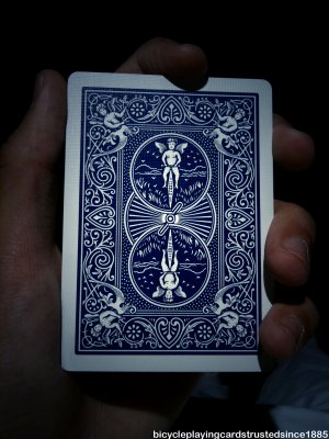 Gaff Card- Double Back Blue/Blue