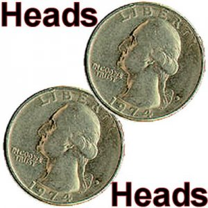 2 Sided US Quarter (Heads)
