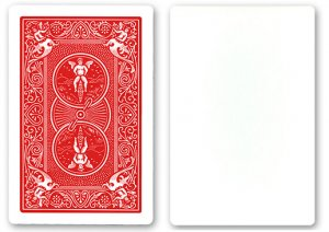 Blank Face Bicycle Cards - Red Back