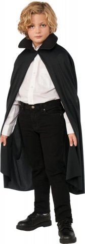 "36"" Cape with Collar (Black)"