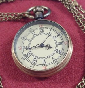 Pocket Watch - Antique look, open-face Medium size