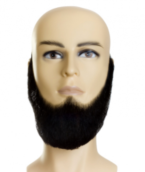 Beard Lincoln Amish - Human Hair Gray Black