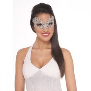 Silver Lace Eye Mask