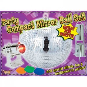Party Compact Mirror Ball Set