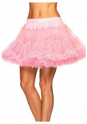 Layered tulle petticoat- Pink
