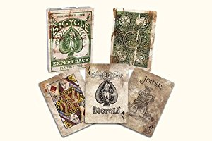 Bicycle Expert Back (Green) By US Playing Card Co
