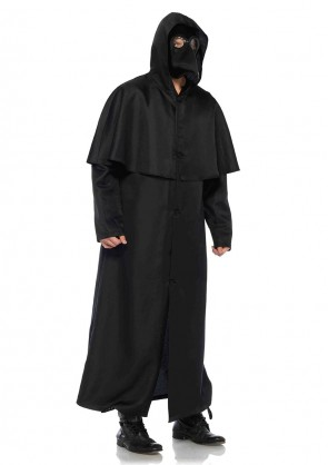 Hooded Button Front Cloak - M/L