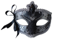 Black and Silver Decorative Mask